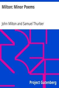 Cover of Milton: Minor Poems