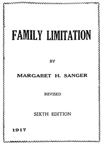 Cover of Family Limitation