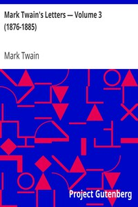 Cover of Mark Twain's Letters — Volume 3 (1876-1885)