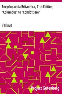 """Cover of Encyclopaedia Britannica, 11th Edition, """"Columbus"""" to """"Condottiere"""" Volume 6, Slice 7"""