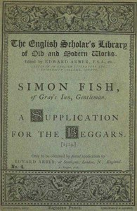 Cover of A Supplication for the Beggars