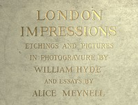 Cover of London Impressions: Etchings and Pictures in Photogravure