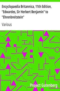 """Cover of Encyclopaedia Britannica, 11th Edition, """"Edwardes, Sir Herbert Benjamin"""" to """"Ehrenbreitstein"""" Volume 9, Slice 1"""