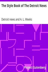 Cover of The Style Book of The Detroit News