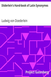 Cover of Döderlein's Hand-book of Latin Synonymes