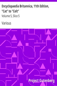 "Cover of Encyclopaedia Britannica, 11th Edition, ""Cat"" to ""Celt"" Volume 5, Slice 5"