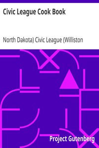 Cover of Civic League Cook Book