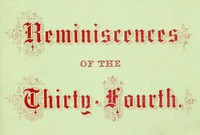 Cover of Reminiscences of the Thirty-Fourth Regiment, Mass. Vol. Infantry
