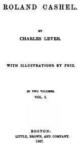 Roland Cashel, Volume I (of II)