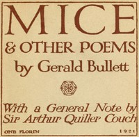 Mice & Other Poems