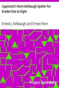 Cover of Lippincott's Horn-Ashbaugh Speller For Grades One to Eight