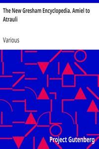 Cover of The New Gresham Encyclopedia. Amiel to Atrauli Vol. 1 Part 2