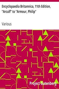 "Cover of Encyclopaedia Britannica, 11th Edition, ""Arculf"" to ""Armour, Philip"" Volume 2, Slice 5"
