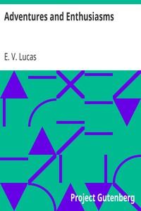 Cover of Adventures and Enthusiasms