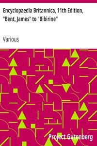 "Cover of Encyclopaedia Britannica, 11th Edition, ""Bent, James"" to ""Bibirine"" Volume 3, Slice 6"