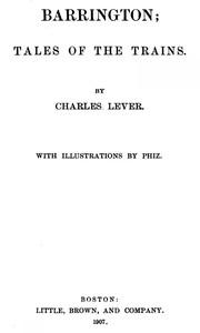 Barrington. Volume 1 (of 2)