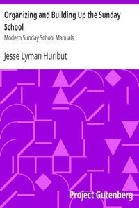 Organizing and Building Up the Sunday SchoolModern Sunday School Manuals