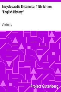 "Cover of Encyclopaedia Britannica, 11th Edition, ""English History"" Volume 9, Slice 5"