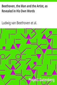 Cover of Beethoven, the Man and the Artist, as Revealed in His Own Words