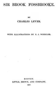 Cover of Sir Brook Fossbrooke, Volume II.