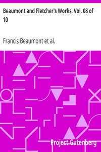 Cover of Beaumont and Fletcher's Works, Vol. 08 of 10