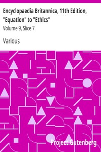 """Cover of Encyclopaedia Britannica, 11th Edition, """"Equation"""" to """"Ethics"""" Volume 9, Slice 7"""