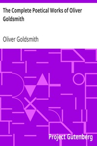 Cover of The Complete Poetical Works of Oliver Goldsmith