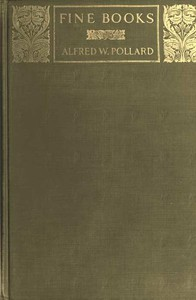 Cover of Fine Books