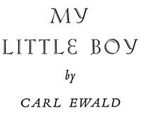 Cover of My Little Boy