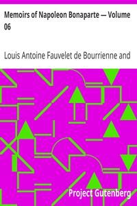 Cover of Memoirs of Napoleon Bonaparte — Volume 06