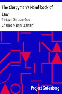 Cover of The Clergyman's Hand-book of Law: The Law of Church and Grave