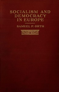 Cover of Socialism and Democracy in Europe