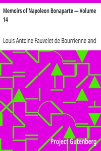 Cover of Memoirs of Napoleon Bonaparte — Volume 14