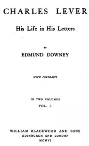 Cover of Charles Lever, His Life in His Letters, Vol. I