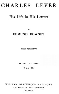 Cover of Charles Lever, His Life in His Letters, Vol. II