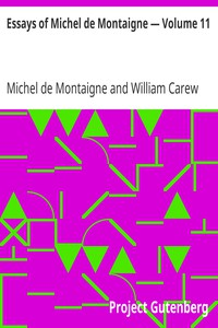 Cover of Essays of Michel de Montaigne — Volume 11