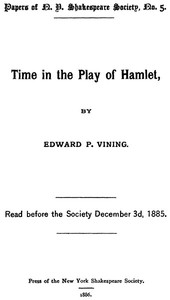 Cover of Time in the Play of Hamlet