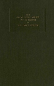 Cover of The Great Steel Strike and its Lessons