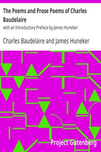 Cover of The Poems and Prose Poems of Charles Baudelairewith an Introductory Preface by James Huneker