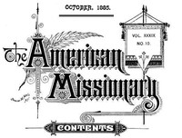Cover of The American Missionary — Volume 39, No. 10, October, 1885