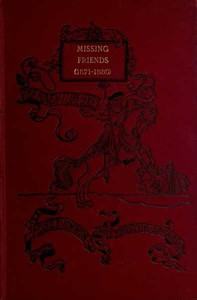 Missing FriendsBeing the Adventures of a Danish Emigrant in Queensland (1871-1880)