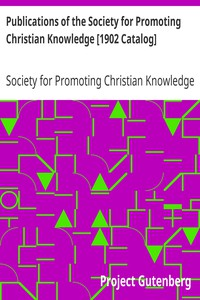 Cover of Publications of the Society for Promoting Christian Knowledge [1902 Catalog]