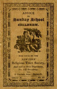 Cover of Advice to Sunday School Children