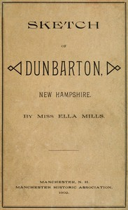 Cover of Sketch of Dunbarton, New Hampshire