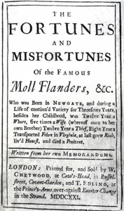 Cover of The Fortunes and Misfortunes of the Famous Moll Flanders