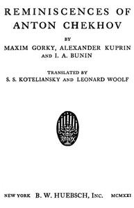 Cover of Reminiscences of Anton Chekhov