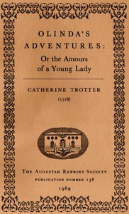 Cover of Olinda's Adventures: or the Amours of a Young Lady