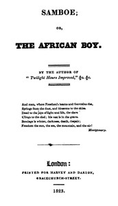 Cover of Samboe; or, The African Boy