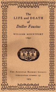 Cover of The Life and Death of Doctor Faustus Made into a Farce