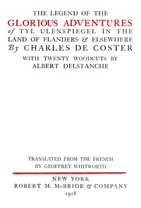 Cover of The Legend of the Glorious Adventures of Tyl Ulenspiegel in the land of Flanders and elsewhere